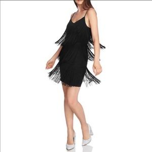 1.State Fringe Slip dress